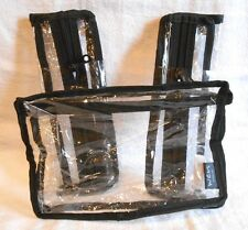 WEN ~ Clear Travel Cosmetic Bag ~ Trio ~  Zippered Multi-Use Bag