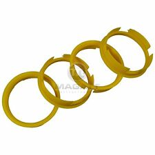 4x Centering ring 72,6 65,1 mm yellow Alloy wheels Brock Keskin Oxigin RC-Design