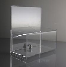 Clear Acrylic Donation Box w/ Easy Drop Tip or Charity Box FREE SHIPPING in US
