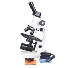 400x Compound Lab LED Microscope w Abbe Condenser Fine Focus & Semi Plan Optics