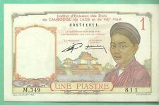 FRENCH INDO-CHINA 1 PIASTRE FRENCH INDO CHINA billet de banque GOOD CONSERVATION