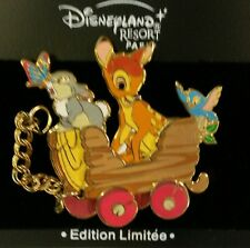 DISNEY PIN LE DLRP BAMBI THUMPER TRAIN DISNEYLAND PARIS BUTTERFLY BLUE BIRD