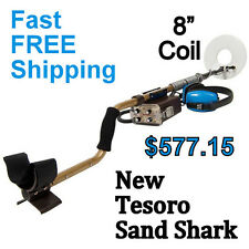 """NEW Tesoro Sand Shark Waterproof Metal Detector with 8"""" Coil * FREE Shipping"""