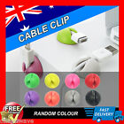 6Pcs Cable Clip Desk Tidy Wire Drop USB Charger Cord Holder Organiser Line Fixer