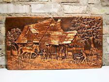 Katzmaier Relief Wandbild 94% Metallauflage bäuerliche Szene
