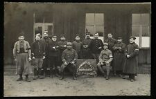 WW1- 1916 Details of a French Soldier Prisoner in a German POW Camp, Group Photo