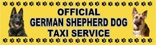 GERMAN SHEPHERD DOG OFFICIAL TAXI SERVICE Dog Car Sticker  By Starprint