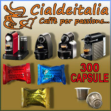 300 capsules coffee Cialdeitalia compatible NESPRESSO mixet at your choice!