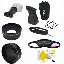 CANON REBEL EOS T3 T3I WIDE ANGLE LENS/TELEPHOTO LENS/LCD VIEWFINDER 3FILTER KIT