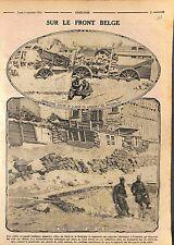 Bataille de l'Yser Front de Belgique Poilus Tirailleurs Soldats France WWI 1915