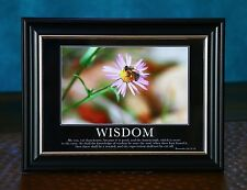 Bible Scripture Picture Print In Frame & Glass-Wisdom-Faith-Spirituality