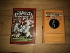 2 Books Greatest Football Stories Ever Told Murder At The Foul Line Hoop Dreams