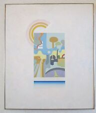 MICHAEL DORMER (b.1935) VINTAGE RETRO MODERN CUBISM GEOMETRIC ABSTRACT PAINTING