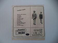 advertising Pubblicità 1953 FORMAGGINO BEBE' GALBANI