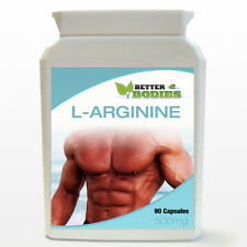 L-Arginine HCL 500mg 90 Capsule Bottle Muscle Pump Nitric Oxide