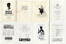 Programme du Théâtre National de L'Opéra - Aïda - 7 Février 1955