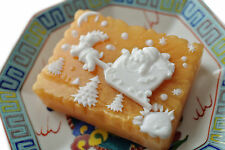 Reindeer and Santa Soap With Moon and Sun Colored Gold Basic - Handmade