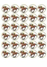 30 Horse Racing Melbourne Cup Edible Paper Cupcake Decoration Image (HR2)