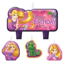 TANGLED Dream Big MINI CANDLE SET (4pc) ~ Birthday Party Supplies Cake Cupcake