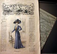 LA MODE ILLUSTREE + PATRON,  n° 43/1908 Voir modèles à réaliser, FRENCH PATTERN