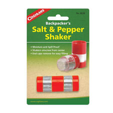 Camping Compact Salt and Pepper Shaker Spill Proof Spice Condiments Coghlan 8236