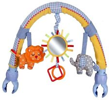 Blue Elephant  Baby Pram Activity Arch Plush Stroller Toy with Rattle BB Device