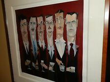 "Limited Edition Signed and Numbered Todd White Lithograph 2005 ""Six Pack"""