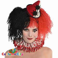 Womens Ladies Halloween Freak Show Clown Hat Headband Fancy Dress Accessory