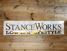 Stance Works Vinyl Car Sticker Gold Chrome 25cm Airride VW Audi BMW HONDA