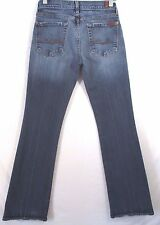 7 for all Mankind Jeans Misses Size 27 Boot Cut Stretch Denim Inseam 32