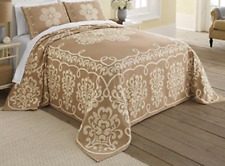 King Size Florentine Jacquard Bedspread and 2 Shams -- NWT