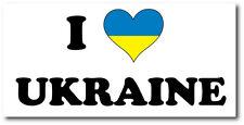 I LOVE UKRAINE - Eastern Europe / European / Flag Vinyl Sticker - 23cm x 12cm