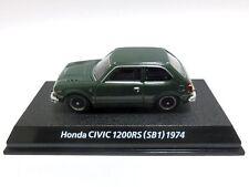 Honda Civic 1200RS SB1 1974 Green 1/64 Miniature car KONAMI Japan