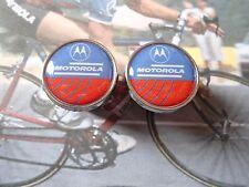 Vintage style Motorola Team Handlebar End Plugs