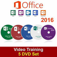 LEARN MICROSOFT OFFICE 2016-WORD,EXCEL,PUBLISHER,ACCESS TUTORIAL TRAINING DVD