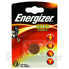 4 x Energizer Lithium CR2016 batteries 3V Coin cell DL2016 ERC BR2016 EXP:2023