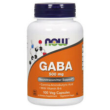 GABA 500 mg 100 Caps by Now Foods