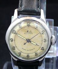 RARE ORIGINAL VINTAGE LADY 1950s MIDO BUMPER AUTOMATIC S-STEEL WATCH SERVICE 717