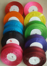ORGANZA RIBBON, 10 Different colour 500  yards(50 yards each roll)