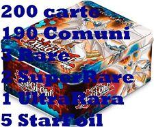 Yu-Gi-Oh Tin Zexal Lotto carte Numero, 200 carte 190 comuni 2 Super-Rara 3 Rare