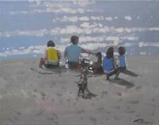 At The Waters Edge  : Original Beach Oil Painting by Zlatan Pilipovic