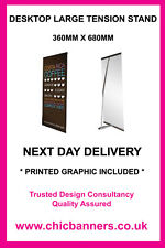 SENATOR TALL 680mm TENSION DESKTOP BANNER EXHIBITION STAND INC GRAPHIC