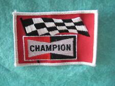 """Vintage Champion Racing Uniform Patch 4 """" X  2 5/8"""""""