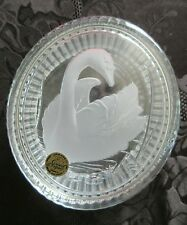 Crystal Swan Trinket Jewelry Box w/Sticker ~ Cristal d' Arques-France- NEW~