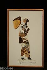 "African Artist ""Alpheus Bonga"" Dried Butterfly Art (Made from Real Butterflies)"