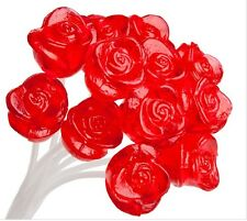 Twinkle Candy 3-D Red Rose Lollipops: 12Piece