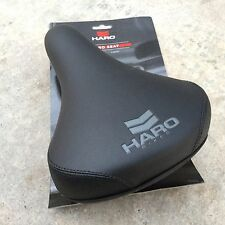 HARO CHEVRON SEAT BLACK RAILS WITH SEAT GUTS BMX BIKE BICYCLE PADDED SEATS