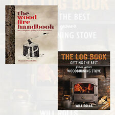 Wood Fire Handbook and The Log Book 2 Books Collection Pack Set NEW UK