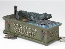 SP1590 - King of the Swamp: Alligator Authentic Foundry Iron Mechanical Bank