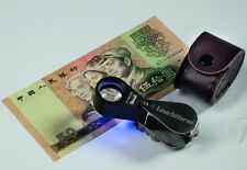Lighthouse Precision Triplet Magnifier 10X Loupe LED + UV Stamps Banknotes Free